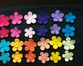 Felt Flower Pop-DIY Kids Crafts-Party Decorations-Garlands-Bible Journaling-Planners-Quiet Books-Imaginative Play-Quilt Appliques-Iron-Ons