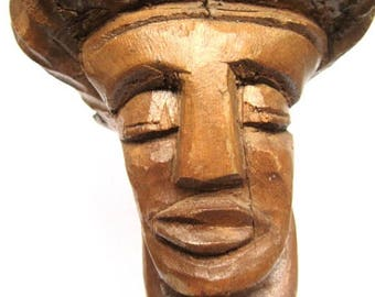 Crazy Dude Wood Carving