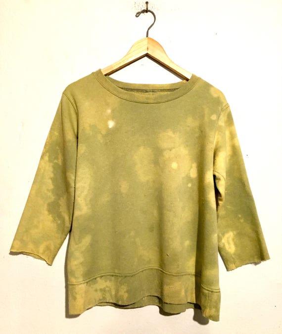 80s Vintage Bleached Cut Off Sweatshirt