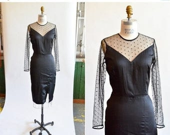 25% off Storewide // Vintage 1950s COCKTAIL dress