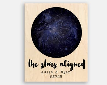 Wedding Gifts for Couple Star Print Valentines Day Gift for Him Custom Star Map Wedding Gift Custom Star Print Anniversary Gift Husband Blue