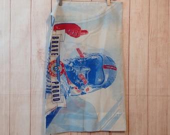 Vintage 80s Sky Command Sky Commander Pillowcase Pillow Case Linens Bedding