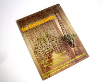 Macrame Home Decor Pattern Book - Macrame Curtains, Owl, Plant Hangers, Wall Hangings