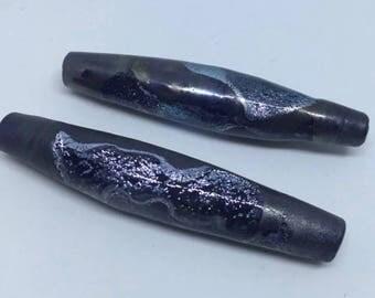 GLASS GEODE - 1 Handmade Lampwork Glass Bead Focal
