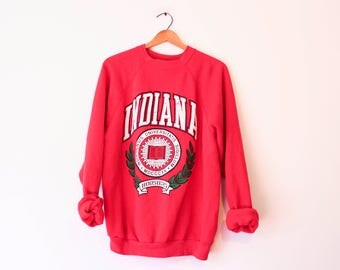 Vintage Red Indiana University Hoosiers Sweatshirt