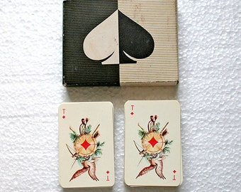 Vintage 70s Playing Cards - two sets of 54 in the original box - from Russia / USSR / Soviet Union