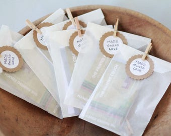 "Glassine Bags w/ side gusset Set of 100  | Width 3"" Gusset 1 1/2"" Height 6 3/4"" 