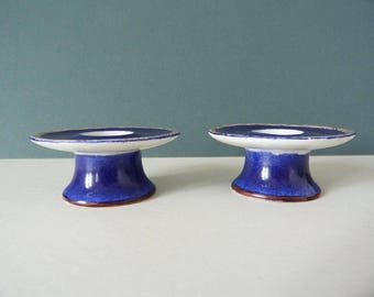 Langenthal ceramic candle stick holders Danish
