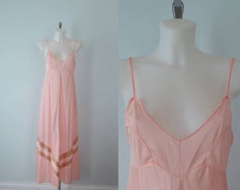 Vintage Pink Nightgown, Debonaire, Vintage Nightgown, Vintage Lingerie, Pink Nightgown, 1970s Nightgown
