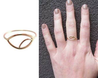Evil Eye Ring| Solid Gold Ring| Evil Eye Ring Gold | Evil Eye Ring Rose Gold | Rose Gold Ring| Delicate Gold Ring | alternative wedding ring