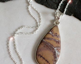 Tumbleweed  - Chohua Jasper Sterling Silver Necklace