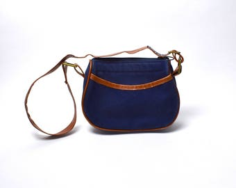 Small Navy Canvas Purse by Lands End