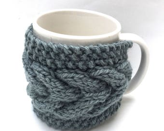mug cozy knitted mug warmer green cup cozy