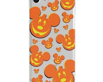 Mickey Pumpkins Halloween Clear Disney iPhone Case