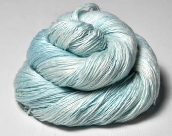 Dripping ice water OOAK - Fleece Silk Lace Yarn - LIMITED EDITION