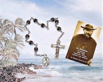 NEW - Unbreakable Catholic Chaplet of St. Damien of Molokai - Patron Saint of