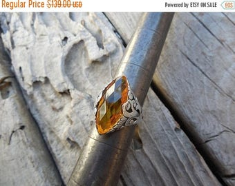 ON SALE Gorgeous Madeira citrine ring handmade in sterling silver