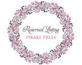 Reserved listing for Samantha