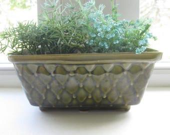 Vintage Brush USA Pottery Plant Pot