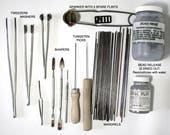 Glass Working Tools- Mandrels, Tweezers, Masher, Bead Release, and more  DESTASH USED ITEMS!