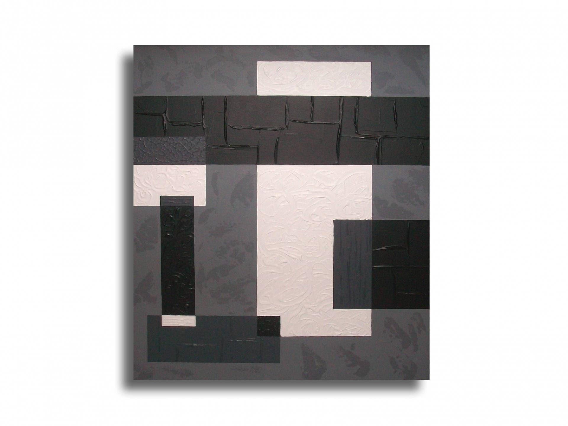 tableau toile gris noir blanc art contemporain moderne. Black Bedroom Furniture Sets. Home Design Ideas
