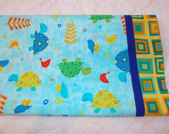Turtles and Friends Childrens or Travel  Pillow Case
