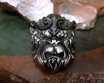 Chinese Monkey King Sun Wukong  Ring  Sterling Silver Free Domestic Shipping