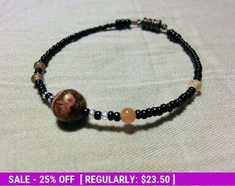 June SALE! Moons of Jupiter Bracelet - Proportional Distances - Beadwork - Planet - Moon - Astronomy - Statement Jewelry