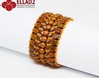 Tutorial Nebula Bracelet - Beading Tutorial, Bracelet designed by Ellad2, Instant download, beading pattern