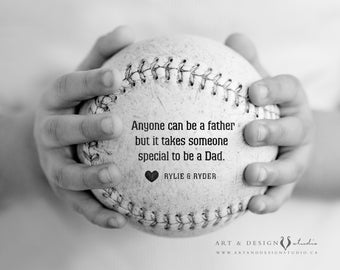 Personalized Fathers Day Gift, Custom Message to Dad Gift, Gift From Kids, Godfather Gifts, Sports Decor Gifts, Gift for Men, Sports Photo