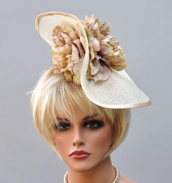 Derby Fascinator Hat, Wedding Fascinator, Kentucky Derby hat, Ascot hat headpiece, Tea Party Hat, Wedding Headpiece