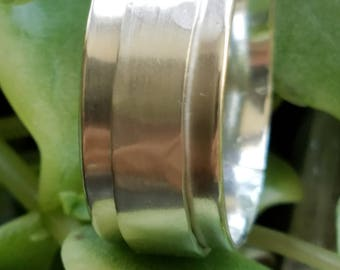 Sterling Silver Spinner Ring, with wide spinner