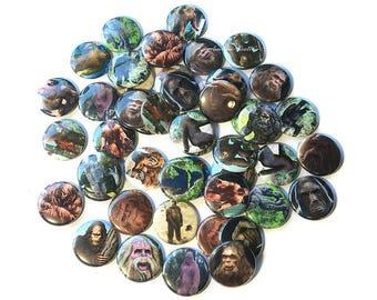 "Big Foot, Sasquatch, 1"" Button, Big Foot Button, Big Foot Pin, Big Foot Birthday, Sasquatch Party Favor, Bigfoot Flatback, Squatch Button"