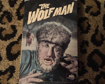 Vintage The Wolfman VHS Universal Monsters Classic Horror Movie