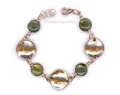 1948 Penny Bracelet 70th Birthday Gift Ideas Labradorite Beads Coin Handmade Bracelet