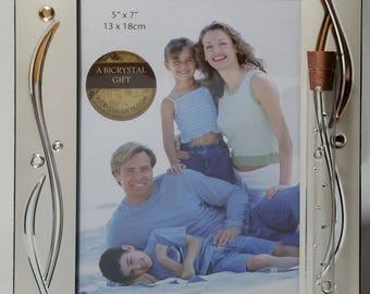 Jewish Wedding Picture Frame - Jewish Engagement Gift - Holds Shards - Jewish Wedding Photo Frame