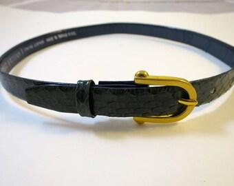 Vintage Dark Green Snakeskin Belt Gold Buckle Snakeskin Sz S Green Skinny Belt Accent Belt Vintage Belt Fashion to 26 inch Waist