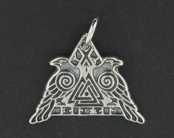 Valknut Warrior Pendant in Sterling Silver