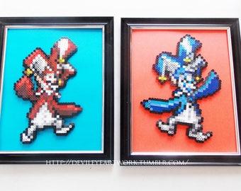 Final Fantasy 9 Zorn and Thorn Framed Sprite Art (Set of 2)