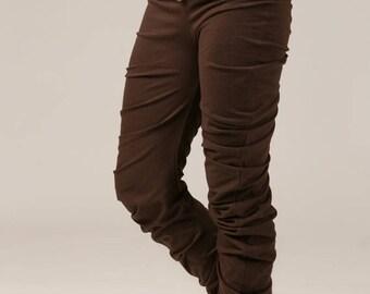 BIG SUMMER SALE 25% Off High waist Apple Ruffle Leggings - jersey leggings - yoga baggy leggings