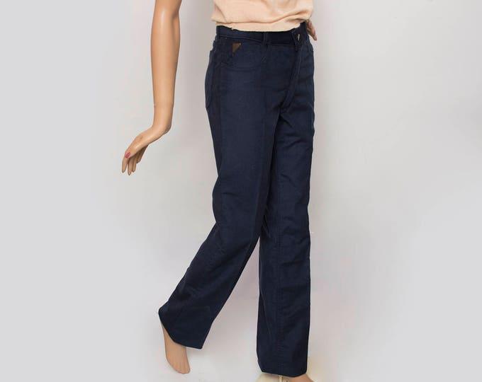 NOS Vintage 70's blue corduroy pants trousers