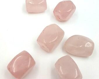 Rose Quartz Beads, Pink Beads, Natural Gemstone Bead, Rose Quartz Nuggets, Beads for Jewelry Making, Smooth Nugget Bead, Pink Quartz Beads