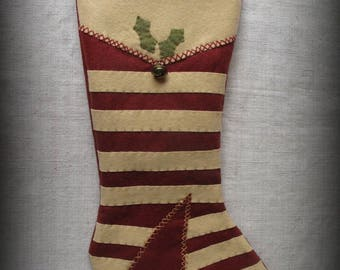 Winter Cabin Stocking - Christmas Past Stocking Collection FINISHED PIECE by cheswickcompany
