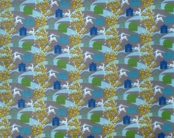 Anna Maria Horner Folksy Flannel Forest Hills dusk fabric shy half yard