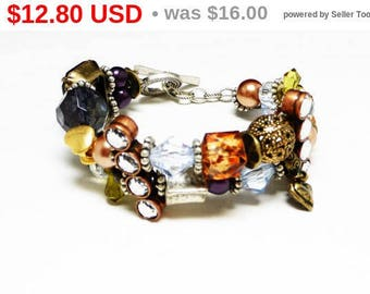 Vintage Style Beaded Bracelet - Where Vintage Meets Modern - Rhinestones, Crystals, and pearlesent Beads, Multi Colored Pre 1997 Design