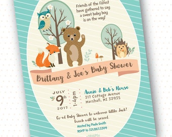Woodland Baby Shower Invitation - Customized Printable DIY