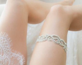 Wedding Garter - Rhinestone Crystal Garter - Bling Bridal Garter