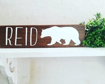 Woodland Nursery Decor | Rustic Decor | Wood Sign Wall Hanging | Childrens Room Decor