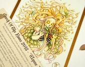RESERVED Sara Glassman - Wynne Is Alive - MarchOfTheFauns 2018 Limited Edition Double Matted Faun Print with Story Scroll