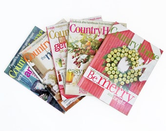 Bundle of Country Home Magazine Back Issues - 5 Issues with Decorating & Cooking Ideas
